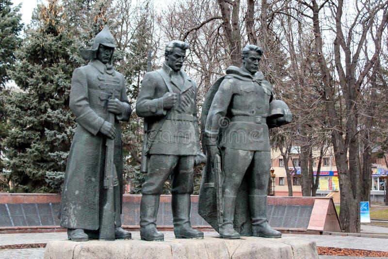 Memorial soviético em Lutsk, Ucrânia imagens de stock