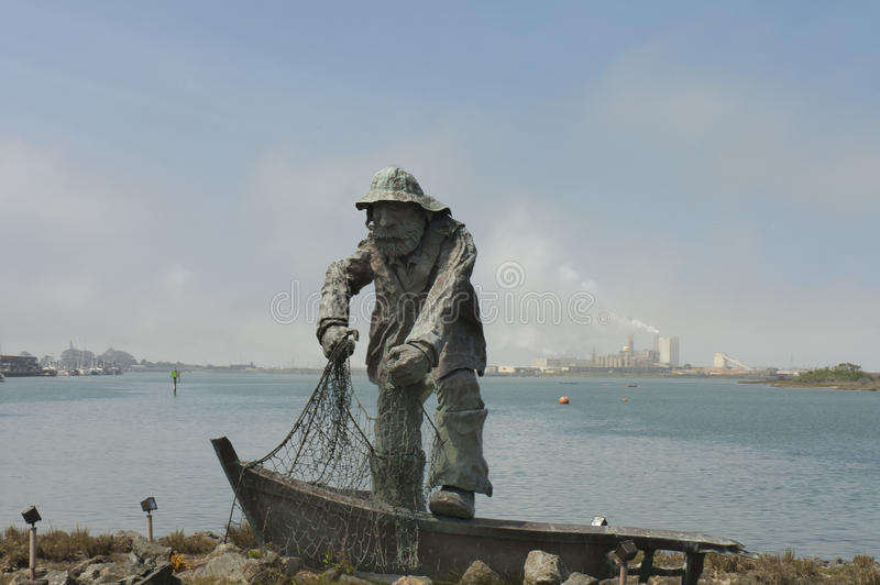 memorial statue of The Fisherman