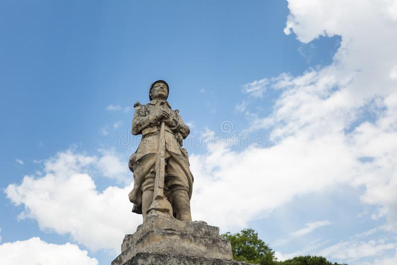 Memorial for WWI in Gordes. A memorial statue for WWI in Gordes, Provence, France stock images
