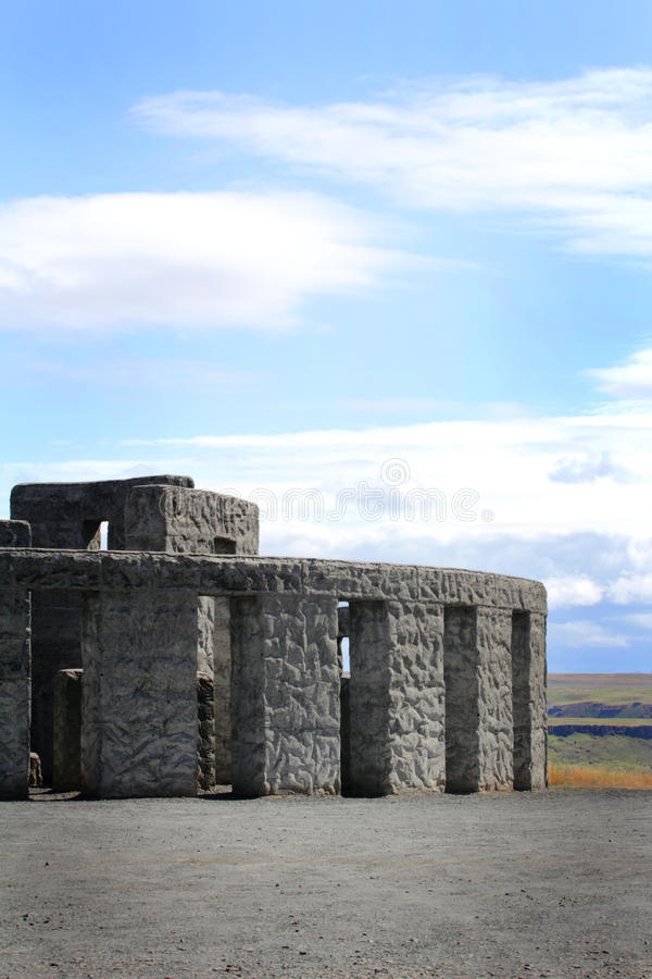 Memorial Stonehenge Replica stock photography