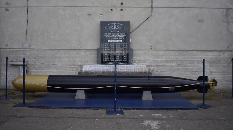 Memorial submarino da segunda guerra mundial, San Francisco imagem de stock