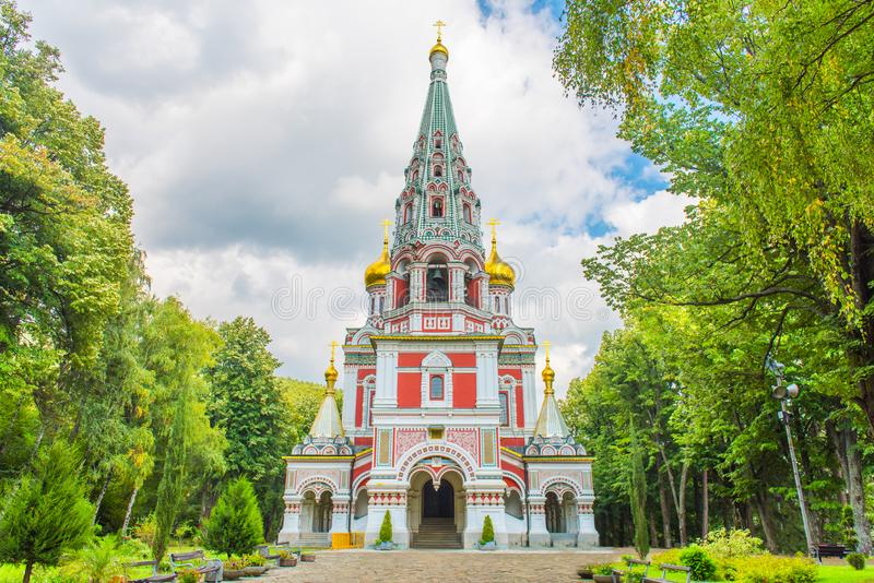 The Memorial Temple of the Birth of Christ, Shipka, Bulgaria stock image