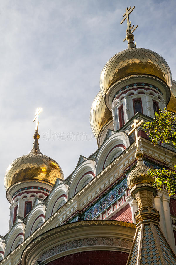 Memorial Temple of the Birth of Christ in Shipka village stock photo