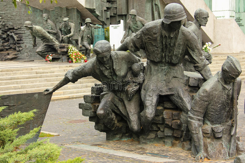 Memorial to the 1944 uprising in Warsaw. Poland stock images