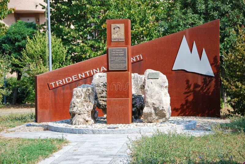 Memorial to General Reverberi royalty free stock images
