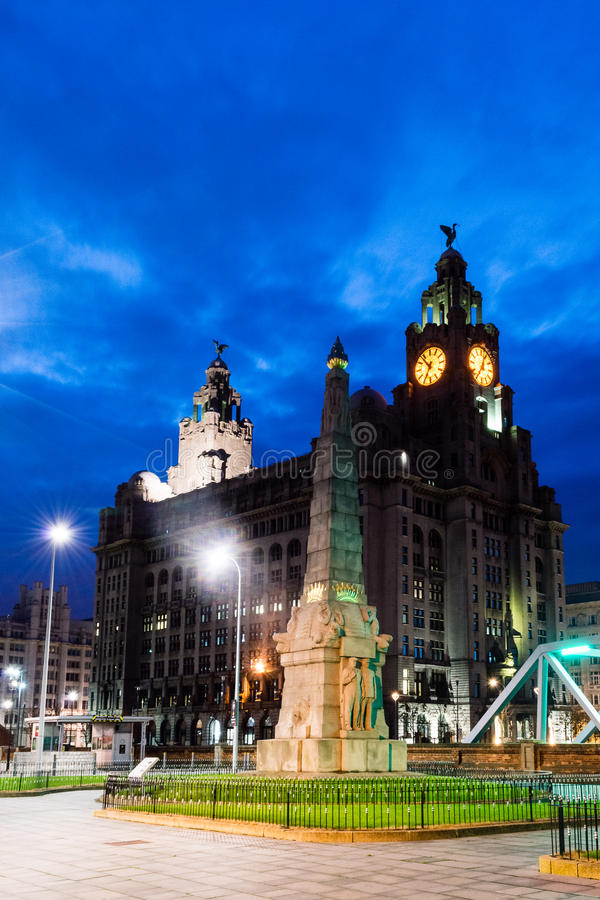 Memorial to the Engine Room Heroes of the Titanic and Royal Live. ENGLAND, LIVERPOOL - 15 NOV 2015: Memorial to the Engine Room Heroes of the Titanic and Royal stock image