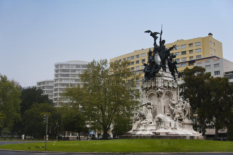 Memorial to the Heroes of the Peninsular War, Lisbon royalty free stock photos