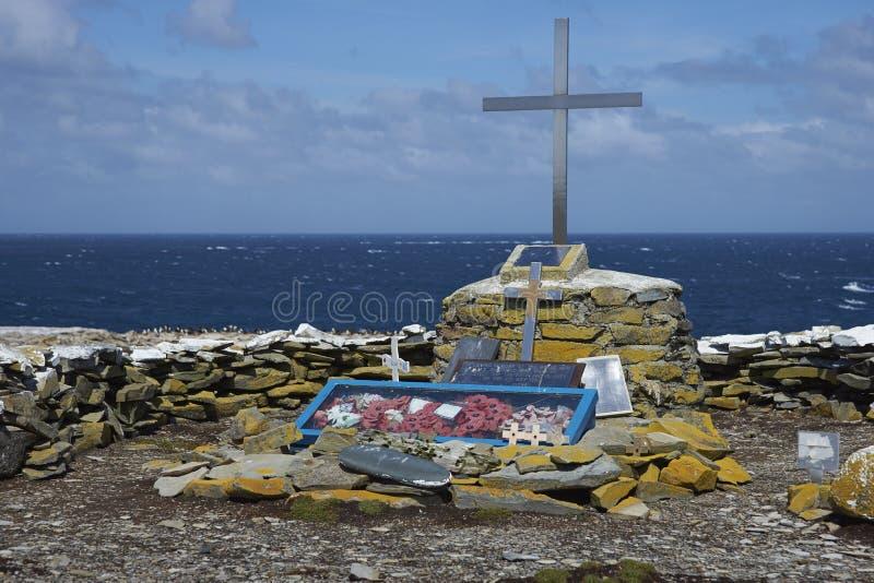 Memorial to HMS Sheffield - Falkland Islands royalty free stock photo