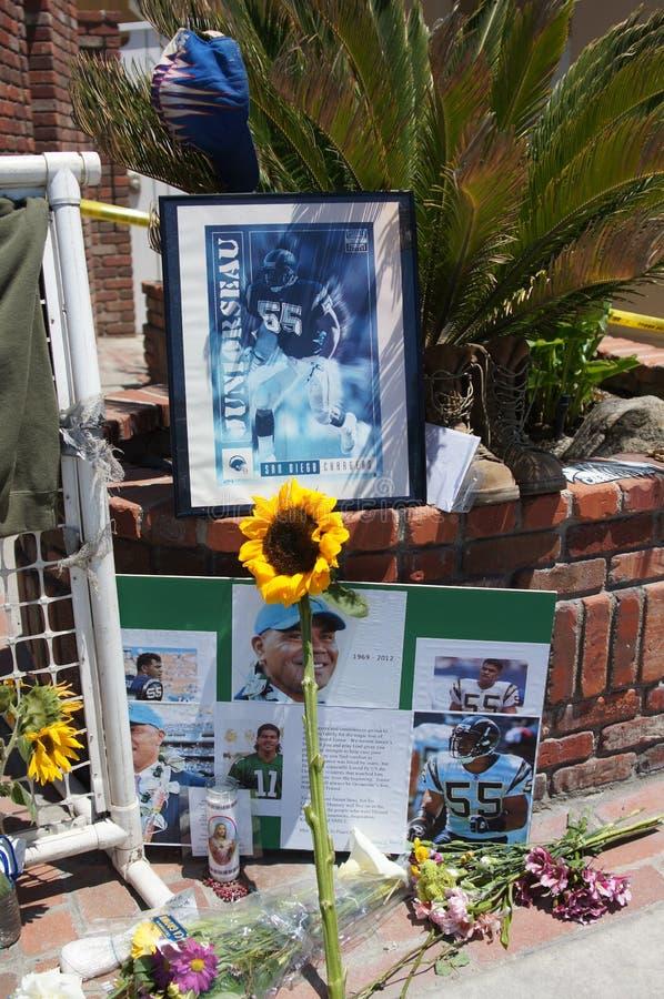 Memorial to Junior Seau in Oceanside, California stock photography