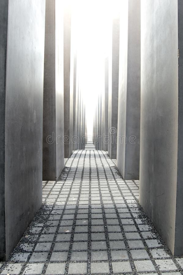 Memorial to the Murdered Jews of Europe in Berlin. Germany stock photo