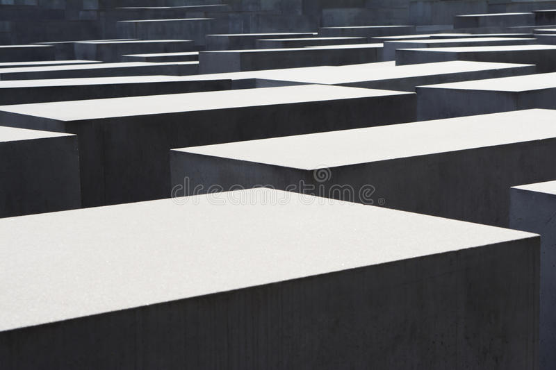 Memorial to the Murdered Jews of Europe in Berlin. View of the squared stone stock images