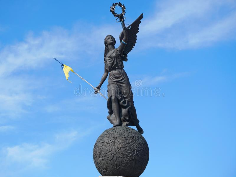 Memorial of Ukrainian Independence in Kharkiv. royalty free stock photography
