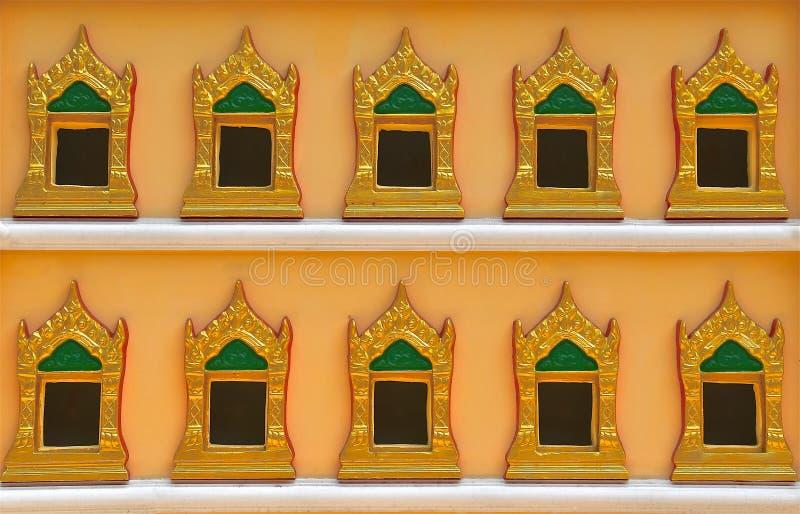 Buddhist casket wall stock photo