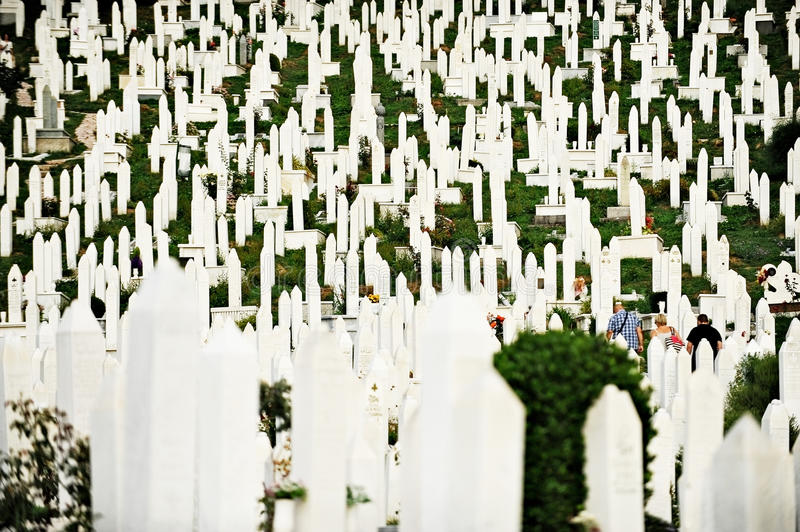 Memorial of the war victims from the Siege of Sarajevo royalty free stock photography