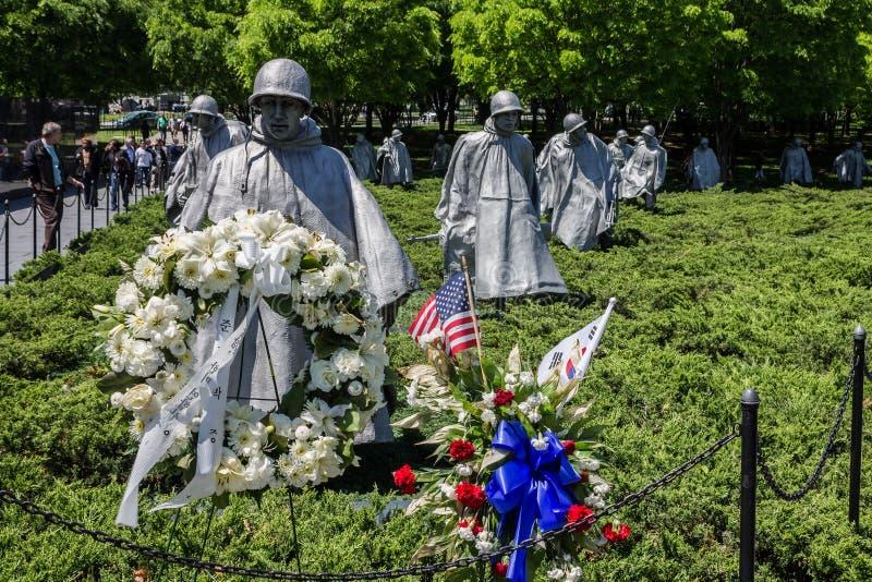 Memorial Washington dos veteranos de Guerra da Coreia foto de stock