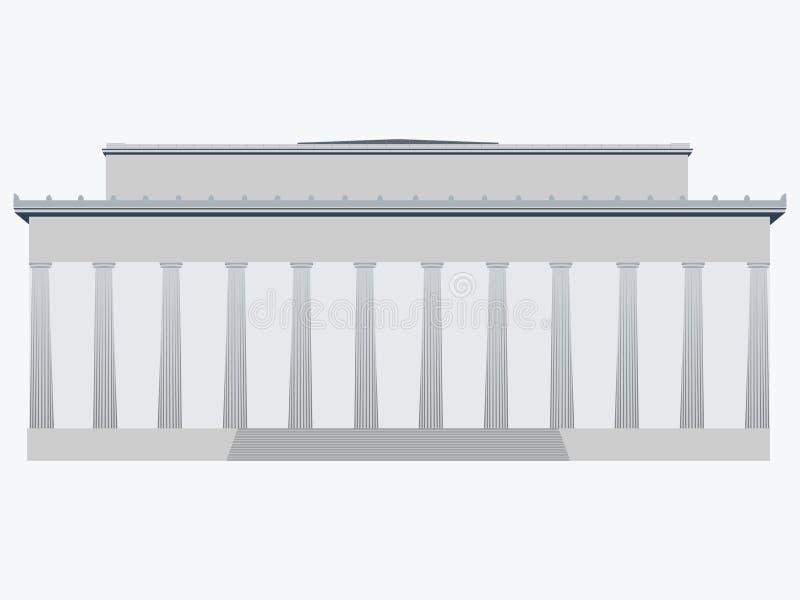 memorial washington EUA Ilustração lisa do vetor ilustração stock