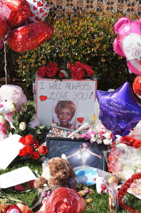 Memorial a Whitney Houston fotografia de stock royalty free