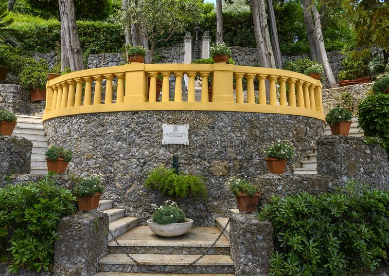Memorial for those who have given their lives for their country, Portofino, Italy. Pictured is a memorial for those who have given their lives for their country stock images