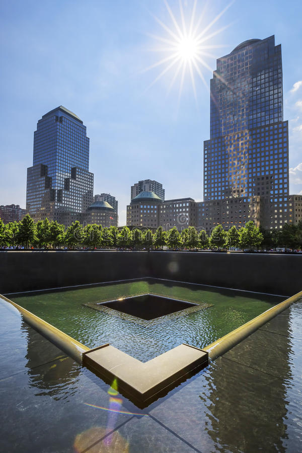 Memorial at World Trade Center Ground Zero stock photos