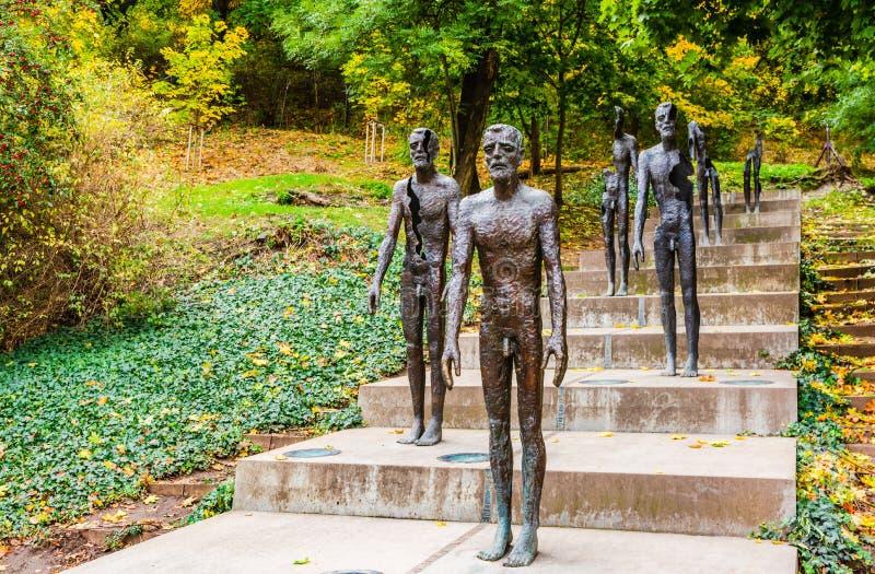 Memoriale alle vittime di comunismo a Praga, repubblica Ceca fotografia stock libera da diritti