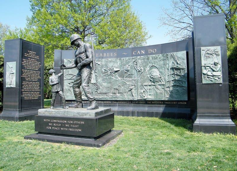 Memoriale 2010 dei SEABEES del cimitero di Arlington fotografie stock