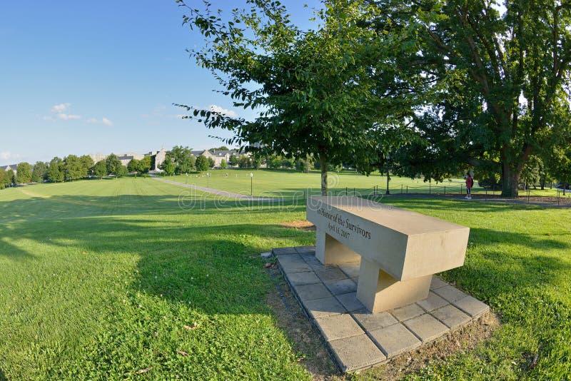 Memoriale del banco della fucilazione dell'aprile 2007, Virginia Tech fotografia stock