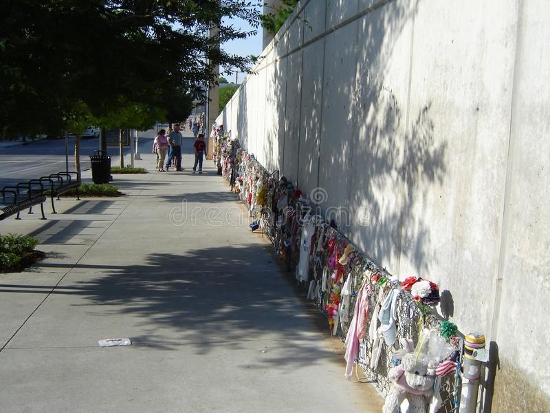 Memoriale del bombardamento di Città di Oklahoma fotografia stock libera da diritti