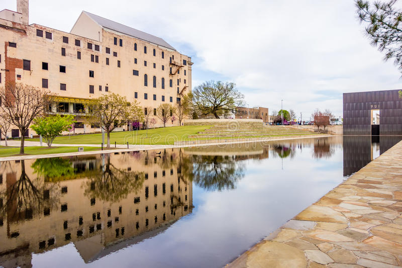 Memoriale del bombardamento di Città di Oklahoma fotografia stock