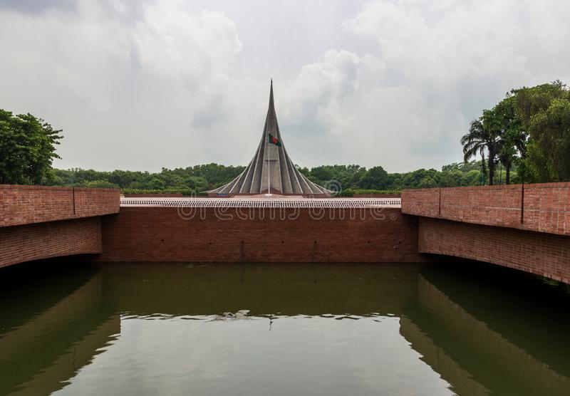 Memoriale del martire di Naional, Dacca, Bangladesh fotografia stock libera da diritti