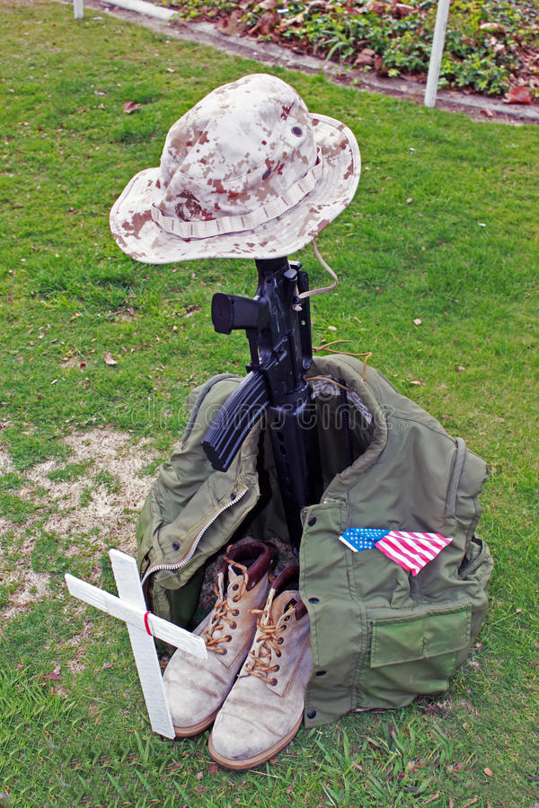 Memoriale del soldato fotografia stock libera da diritti