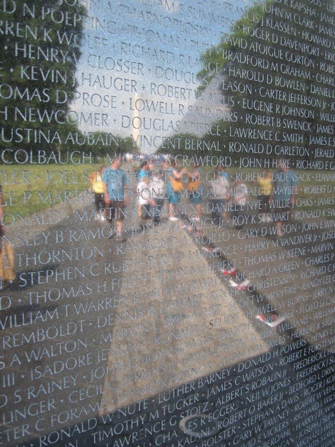 Memoriale del veterano del Vietnam fotografie stock libere da diritti