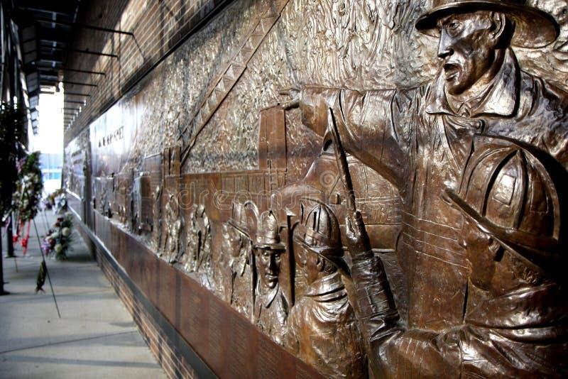 Memoriale del vigile del fuoco a New York fotografia stock