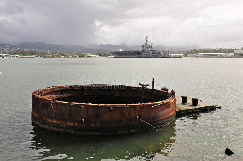 Memoriale dell'Arizona, Pearl Harbor fotografie stock