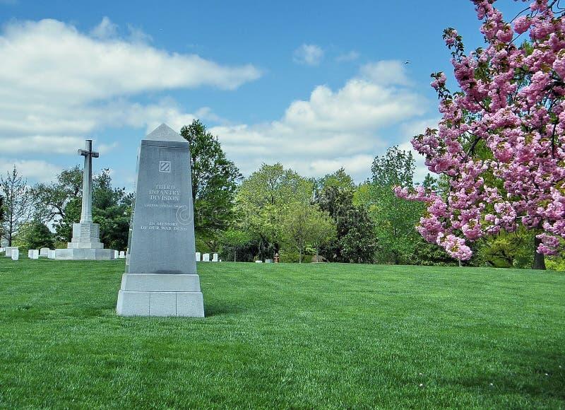 Memoriale 2010 della divisione di fanteria del cimitero di Arlington terzo fotografia stock
