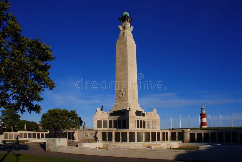 Memoriale della guerra, Plymouth, Regno Unito fotografia stock libera da diritti
