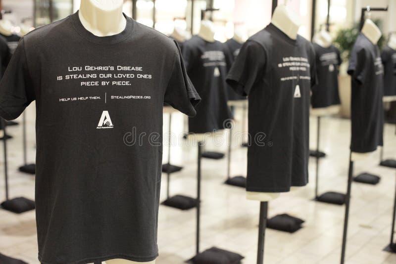 Memoriale della maglietta di Lou Gehrig's Disease fotografie stock libere da diritti