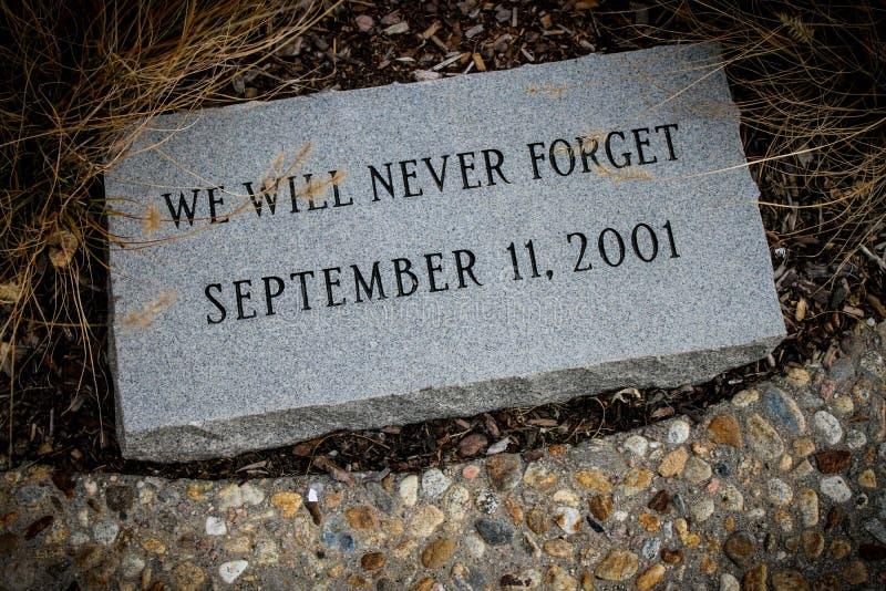 Memoriale della pietra all'11 settembre 2001 fotografie stock
