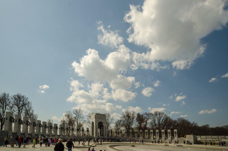 Memoriale della seconda guerra mondiale del Washington DC fotografia stock libera da diritti