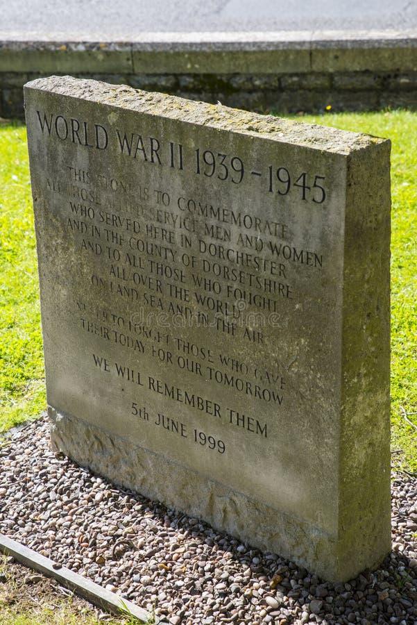 Memoriale della seconda guerra mondiale a Dorchester immagine stock