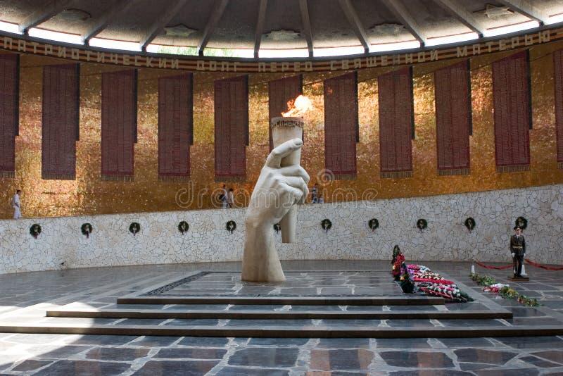 Memoriale della seconda guerra mondiale a Volgograd Russia fotografia stock
