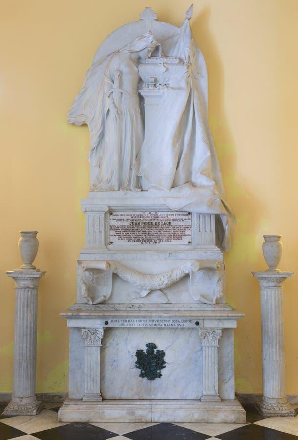 Memoriale della tomba di Juan Ponce de Leon fotografie stock libere da diritti