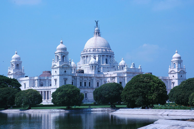 Memoriale della Victoria, Kolkata (Calcutta), India fotografie stock libere da diritti