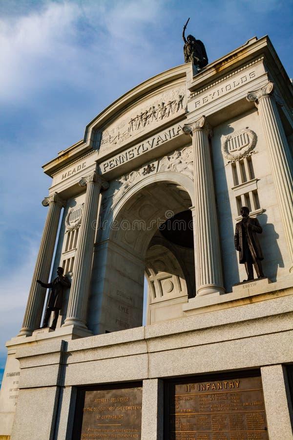 Memoriale dello stato della Pensilvania a Gettysburg immagine stock libera da diritti