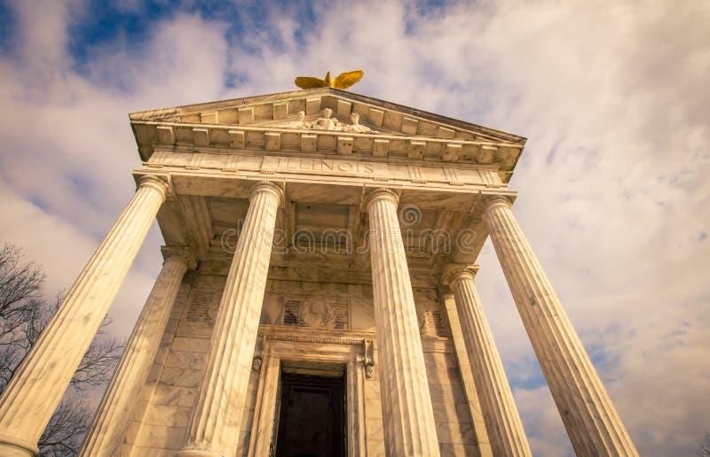 Memoriale dello stato di Illinois in Vicksburg fotografia stock