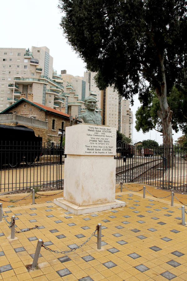 Memoriale di Ataturk in birra Sheva immagini stock