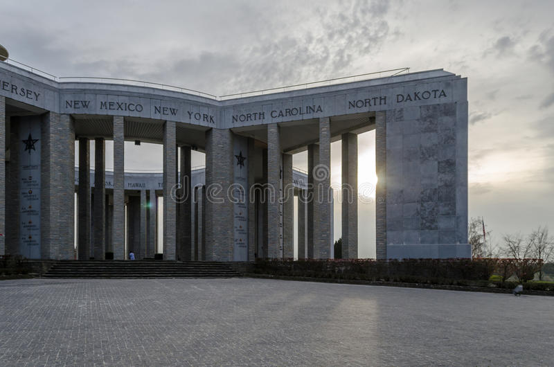 Memoriale di Bastogne WWII fotografia stock