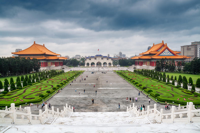 Memoriale di Chiang Kai-shek, Taipei - Taiwan immagine stock libera da diritti