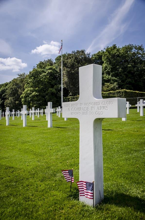 Memoriale di guerra americano del cimitero del Lussemburgo immagine stock