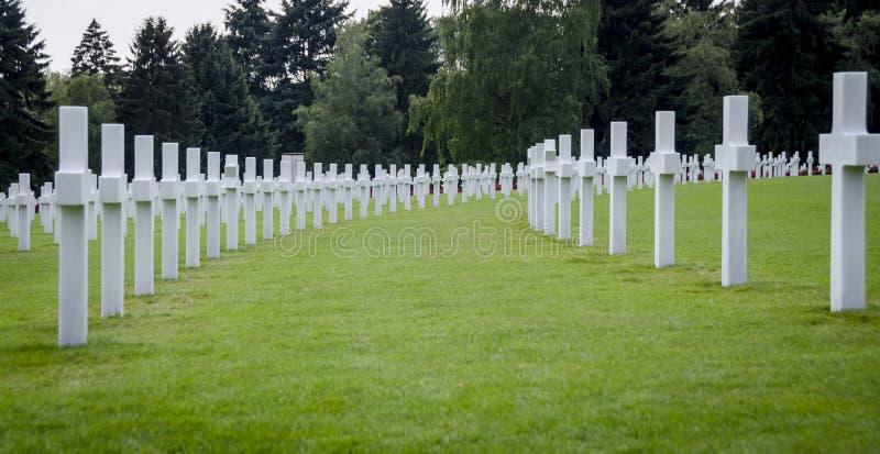 Memoriale di guerra americano del cimitero del Lussemburgo immagini stock