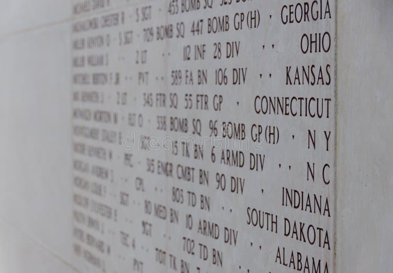 Memoriale di guerra americano del cimitero del Lussemburgo fotografie stock libere da diritti